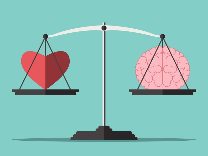 hiring an effective attorney: scales of justice with a brain and heart