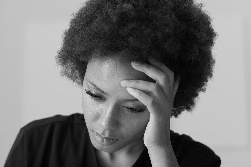 failed marriage: sad african american woman